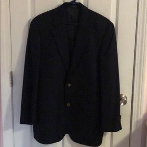 Navy Blue Sports Coat with Gold Buttons